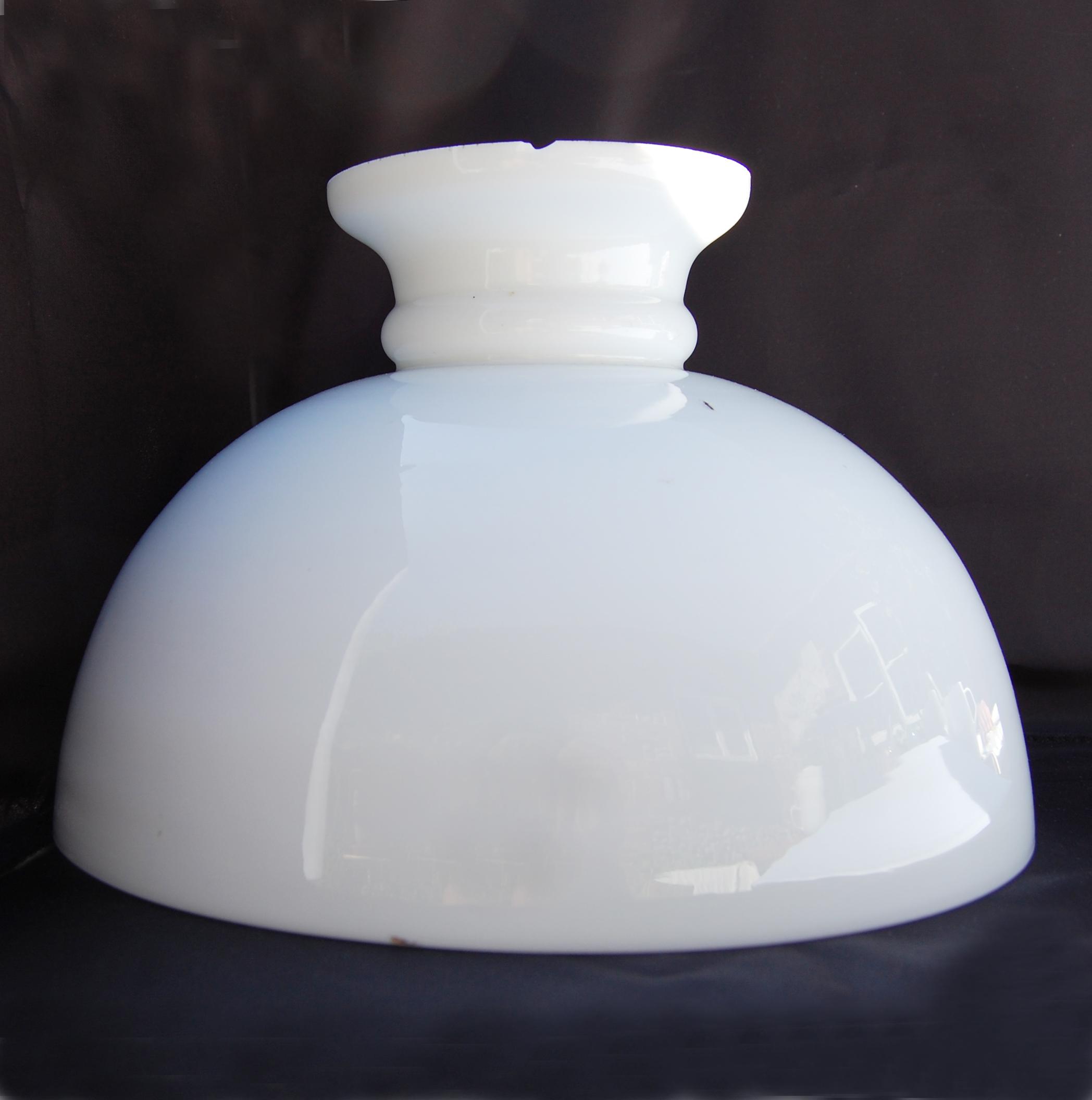Dome Lamp Shades: Antique Dome Opal Oil Lamp Shade No.56 :: English Lamp Company