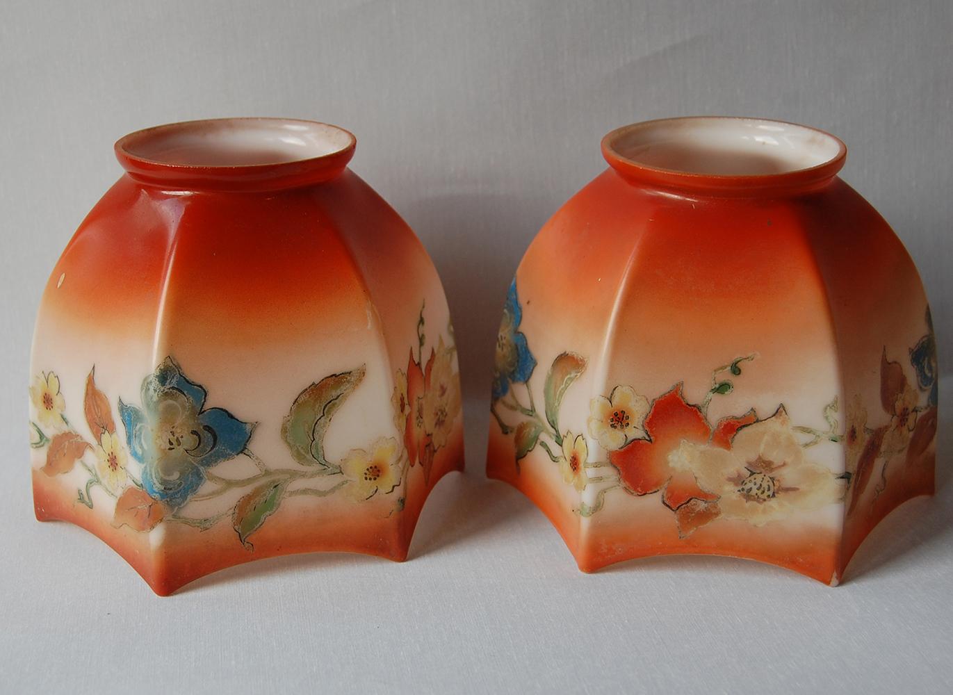 Pair Of Antique Shades No 49 English Lamp Company