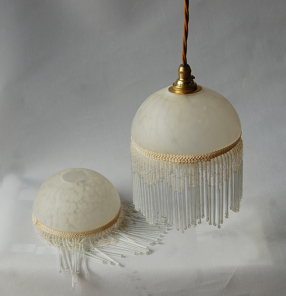 pair of bead fringe shades lamps english lamp company. Black Bedroom Furniture Sets. Home Design Ideas