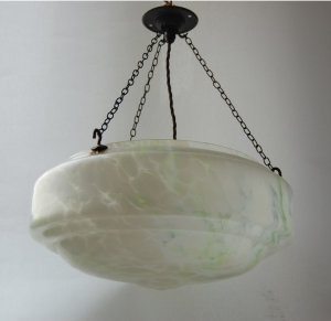 End of day glass bowl hanging lamp no.30