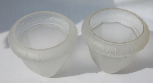 Set of four frosted glass antique shades no.19 A