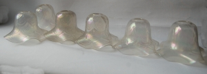 Set of six antique glass shades no 54A