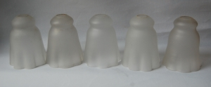 Set of 17 frosted-glass antique shades no 99